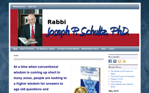 Rabbi Schultz, Author