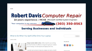 Robert Davis, Computer Repair
